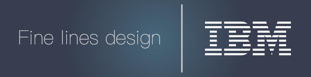 Fine lines design trend with IBM design