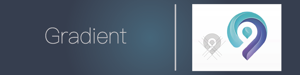 Gradient logo as a logo design trend