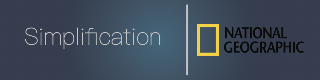 Simplification with national geographic's logo