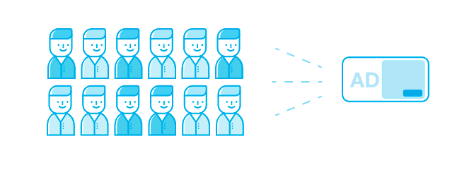 Icons of a group of people as a target audience for your best seo strategy to bring some benefits to your website